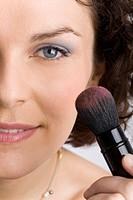 Woman blush