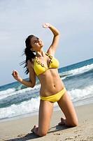 Woman beach sun