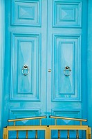 Closed door of a house, Valletta, Malta
