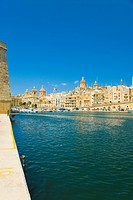 Church at the waterfront, San Lawrenz Church, Grand Harbor, Birgu, Malta