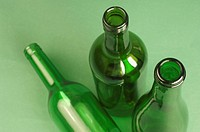 Close_up of empty bottles