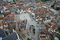 Belgium - Flanders - Mechelen - View from the tower of Saint Rumbolds Cathedral on the Grote Markt (thumbnail)