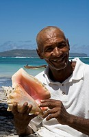 Dominican Republic _ North Coast _ Samana Peninsula _ Las Galeras _ Fisherman