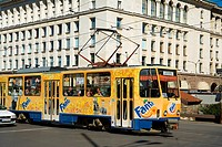 Bulgaria _ Sofia _ Capital City _ Sveta Nedelya Square. _ Tramway