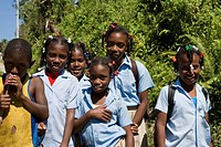 Dominican Republic _ North Coast _ Samana Peninsula _ Schoolgirls