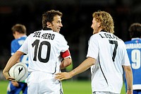 alessandro del piero and lapo elkann, torino 2009, friendly football macth partita del cuore 2009