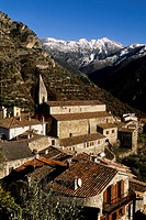 The village of La Tour in the Tinee valley Mercantour national park France Europe