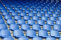 Empty seats in a sports stadium