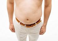 A fat man waist