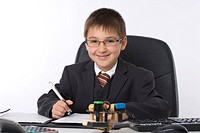 little businessman in office