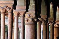 Italy, Veneto, Verona, San Zeno Basilica, Cloister, Capitol