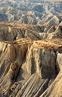 Mountains on an arid landscape, Tabernas, Almeria, Andalusia, Spain