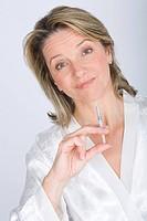 Woman syringe