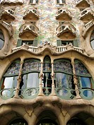 Batllo House by Gaudi, Barcelona. Catalonia, Spain