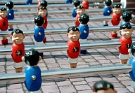 Outdoor foosball table, close_up