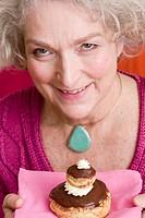 Senior woman pastry