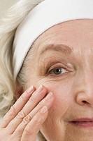 Senior woman wrinkle