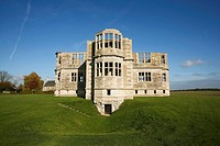 Lyveden New Bield in Northamptonshire, England  The New Bield is an unfinished summer house dating from approximately 1605 constructed for Sir Thomas ...