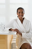 Woman at health spa