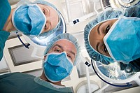 Surgeons looking down