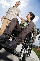 Father with disabled son (thumbnail)