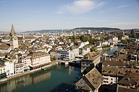 Elevated view of zurich