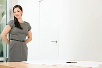 Chinese businesswoman in an office