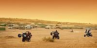 Quad Bikes in Al Thumama Desert Park near Riyadh, Saudi Arabia