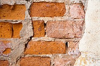 Close up of a broken wall