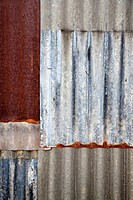 Corrugated iron