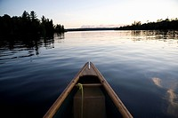 Lake of the Woods, Ontario, Canada, Boat on the water