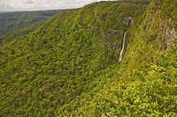 River Noire Falls, Viewpoint at Black River Gorges National Park, Mauritius, Africa