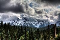 Storm clouds, Mount Rainier, Pierce County, Washington