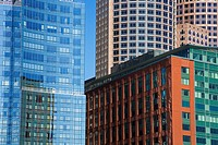 Skyscrapers, Fort Point Channel, Boston, Massachusetts, USA