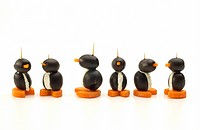 Penguins made of olives, cream cheese and carrots, Appetizers