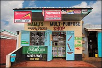 Kenya,Africa,Shopfront of a general store
