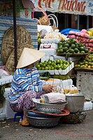 A woman at a market
