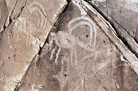Native American petroglyphs found in the Owens Valley, California, USA