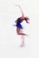 Woman figure skating