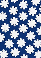 Stylized snowflakes with blue background