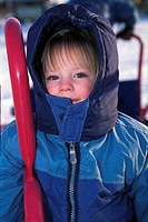Portrait of a child in the cold