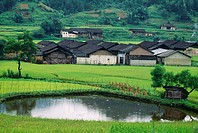 Village near Yangshuo in China