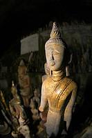 Buddha statues, Pak Ou caves, Laos