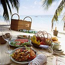 Picnic on the beach, Maldives