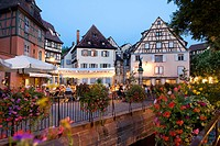 Old town of Colmar in the evening light, Colmar, Alsace, France