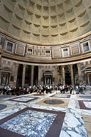 Inside the dome of the Pantheon, Rome, Italy