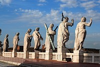 Statues on St. Peter´s Basilica, Vatican City, Rome, Italy
