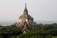 View over the field of Pagodes in Bagan, Myanmar, Burma