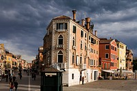 View from Ponte de la Veneta Marina into Via Garibaldi, on the left, and Riva Sette Martiri, on the right, Venice, Italy, Europe