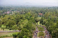 View from Borobudur Temple, Borobudur, Central Java, Java, Indonesia, Asia